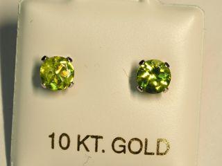 $120 10K Peridot Earrings