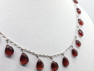 $1022 10K Garnet Necklace