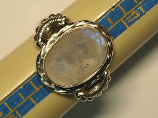 $240 Sterling Silver Moonstone Ring