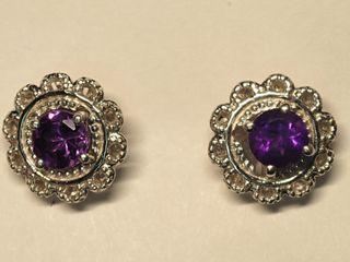 $120 Sterling Silver Amethyst Earrings
