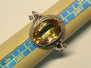 $240 Sterling Silver Citrine Ring
