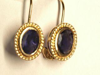 $600 14K Iolite Earrings
