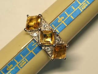 $200 Sterling Silver Citrine Ring