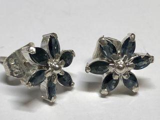 $495 S/Sil Sapphire Earrings