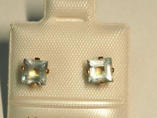 $100 10K Aquamarine Earrings
