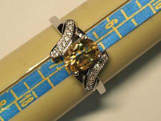 $100 Sterling Silver Citrine Ring