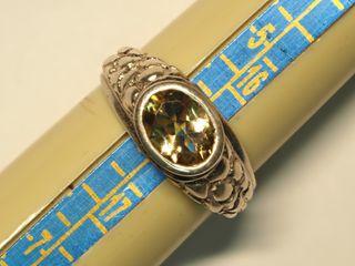 $140 Sterling Silver Citrine Ring