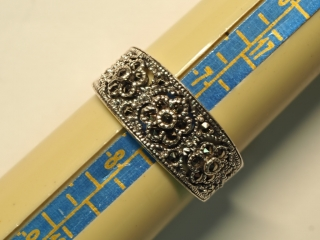 $160 Sterling Silver Marcasite RIng