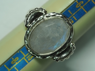 $230 Sterling Silver Moonstone Ring