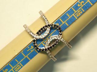 $110 Sterling Silver CZ Ring (3.55g)