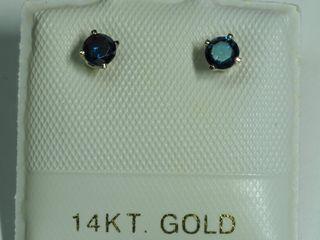 $600 14K Diamond Earrings