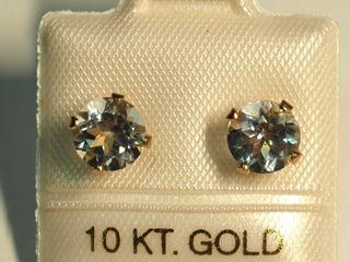 $120 10K Aquamarine Earrings