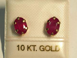 $200 10K Ruby Earrings