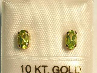 $100 10K Peridot Earrings