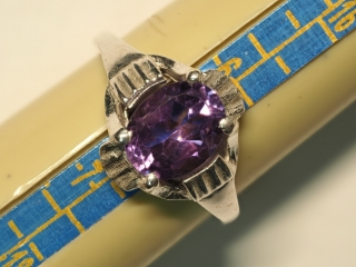 $100 Sterling Silver Amethyst Ring