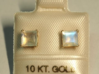 $240 10K Moonstone Earrings