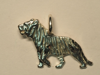 Sterling Silver Tiger Pendant