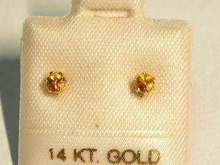 $120 14K Yellow Sapphire Earrings