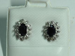 $1200 14K Sapphire & Diamond Earrings