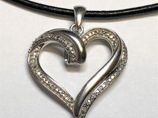 $600 S/Sil  Diamond Pendant