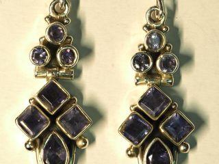 $360 Sterling Silver Iolite Earrings (8.92g)