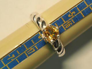 $120 Sterling Silver Citrine Ring (3.23g)