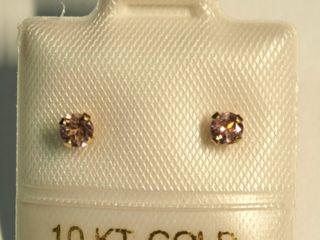 10K Pink Tourmaline Earrings