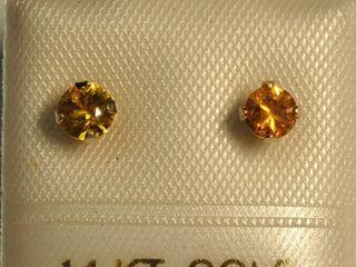 $120 14K Citrine Earrings