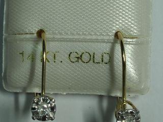 $500 14K Diamond Earrings