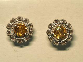 $120 Sterling Silver Citrine Earrings
