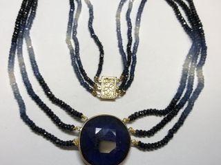 $4788 14K Sapphire Necklace