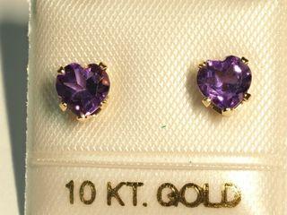 $100 10K Amethys Earrings