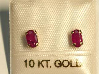 $120 10K Ruby Earrings
