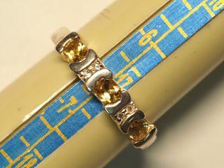 $110 Sterling Silver Citrine Ring