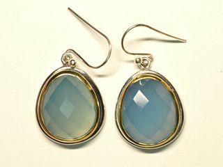 $380 Sterling Silver Chalcedony Earrings (~12.6g)