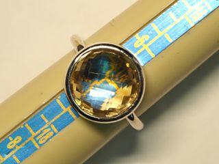 $180 Sterling Silver Citrine Ring (app 4.5g)