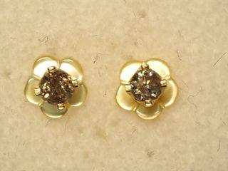 $300 14K Diamond Mother of Pearl 2-in-1 Earrings