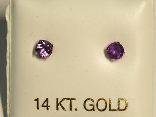 $100 14K Amehyst Earrings