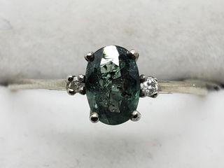 $3400 10K Alexandrite  Diamond Ring