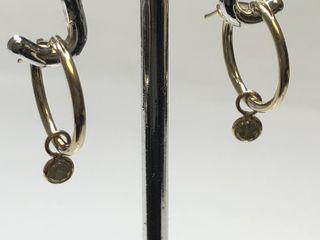 $788 14K  Diamond Earrings