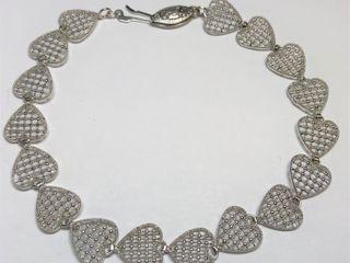 $1175 14K Heart Shaped Bracelet
