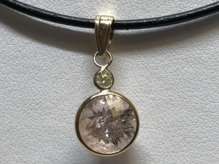 $1000 14K Morganite  Diamond Pendant