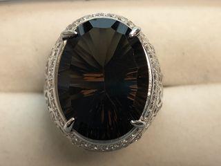 $600 S/Sil Smoky Quartz Ring