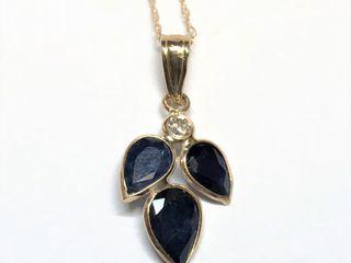 $1600 14k/10K Sapphire  Diamond Necklace
