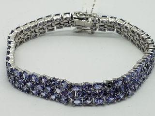 $1400 S/Sil Tanzanite Bracelet