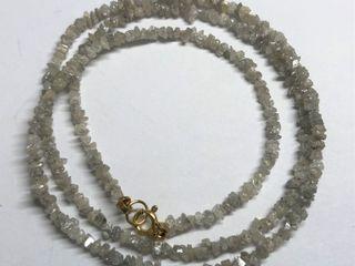 $800 14K Rough Diamonds Necklace