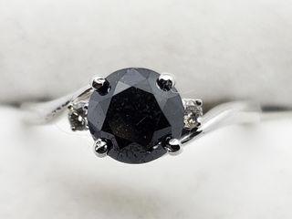 $3280 14K Black Dia 2 W.Dia Ring