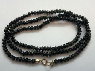 $600 14K Black Onyx Necklace