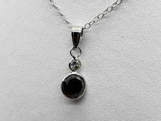 $1600 14k/10K Black Dia White Dia Necklace