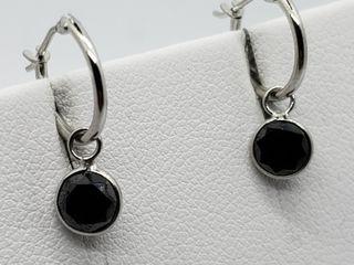$1500 14K Black Diamond Earrings